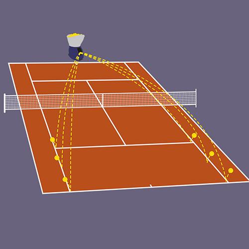 Exercice coup droit/revers avec oscilliations verticales